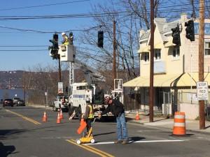 Beekman traffic signal intall